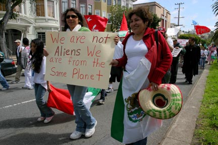 Thousands March For Amnesty and Equality in SF
